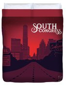 South Congress Avenue Duvet Cover