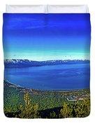 South Lake Tahoe Duvet Cover
