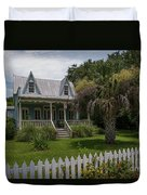 Southern Coastal Tin Roof Cottage Duvet Cover