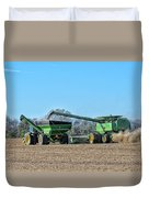 Soybean Harvest Max Duvet Cover