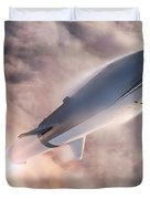 Spacex Bfr Epic Launch Duvet Cover