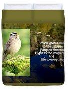 Sparrows Music Duvet Cover