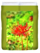 Spider Lily Cezanne Duvet Cover