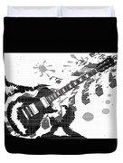 Splatter Guitar Duvet Cover