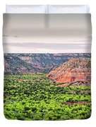 Sprawling Panorama Of Palo Duro Canyon And Capitol Peak - Texas State Park Amarillo Panhandle Duvet Cover