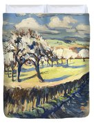 Spring In The Bellet Fruit Orchard Duvet Cover