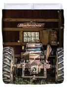 Square Format Old Tractor In The Barn Vermont Duvet Cover