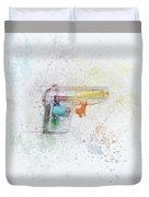 Squirt Gun Painted Duvet Cover