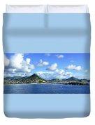 St. Maarten Panorama Duvet Cover