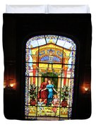 Stained Glass At Moody Mansion Duvet Cover