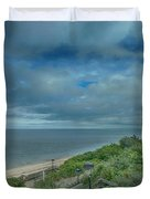 Stairs To The Beach Duvet Cover by Judy Hall-Folde