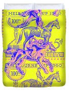 Stamps And Stallions Duvet Cover