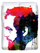 Stanley Watercolor Duvet Cover