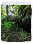 Starburst In The Woods Duvet Cover
