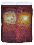 Staring Into The Suns Original Painting Duvet Cover