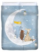 Starlight Wishes With You  Duvet Cover