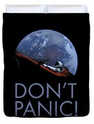 Starman Don't Panic In Orbit Duvet Cover
