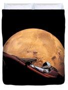 Starman In Orbit Around Mars Duvet Cover