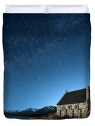 Stars And Midnight Blue Duvet Cover