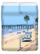 Station 3 Oceanside California Duvet Cover