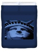Statue Of Liberty In Cyan Duvet Cover