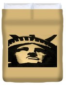 Statue Of Liberty In Dark Sepia Duvet Cover