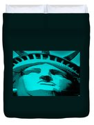 Statue Of Liberty In Turquois Duvet Cover