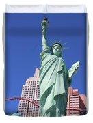 Statue Of Liberty Replica In Las Vegas Duvet Cover