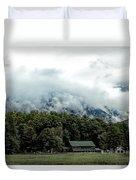Steaming White Mountains Duvet Cover