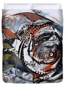 Steampunk Metallic Fish Duvet Cover