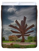 Steel Palm - Peace River Botanical And Sculpture Gardens Duvet Cover