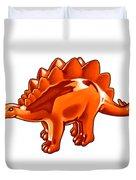Stegosaurus Cartoon Duvet Cover