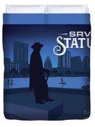 Stevie Ray Vaughan Statue Duvet Cover