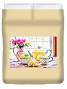 Still Life With Lemons Duvet Cover