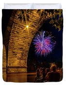 Stone Arch Bridge, July 4 Duvet Cover