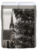 Stone Chapel - Black And White Duvet Cover