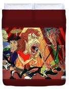 Stones On Stage - The Rolling Stones Duvet Cover