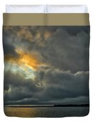 Storm Approaches At Sunset Duvet Cover
