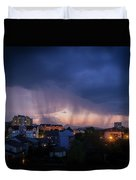 Stormy Weather Over The Small Town Duvet Cover