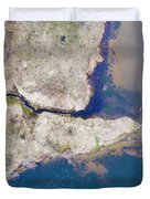 Stream Along Manistee River Aerial Duvet Cover
