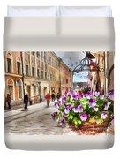 street Helsinki Finland Duvet Cover