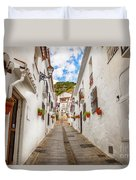 street in Mijas, Spain Duvet Cover by Ariadna De Raadt