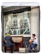 Street Musicians - Paris Duvet Cover by Brian Jannsen