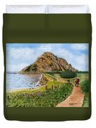Strolling To The Rock Duvet Cover