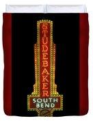 Studebaker Neon Sign Duvet Cover by Susan Rissi Tregoning