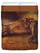Study For Dead Horse Duvet Cover