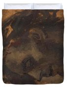 Study For The Head Of Christ In A Crucifixion Duvet Cover