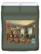 Study In Palais Rasumofsky On Landstrasse In Vienna        Duvet Cover