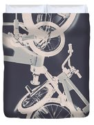 Stunt Bike Trickery Duvet Cover