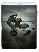 Sturgeon Bay Shipwreck In November Gloom Duvet Cover